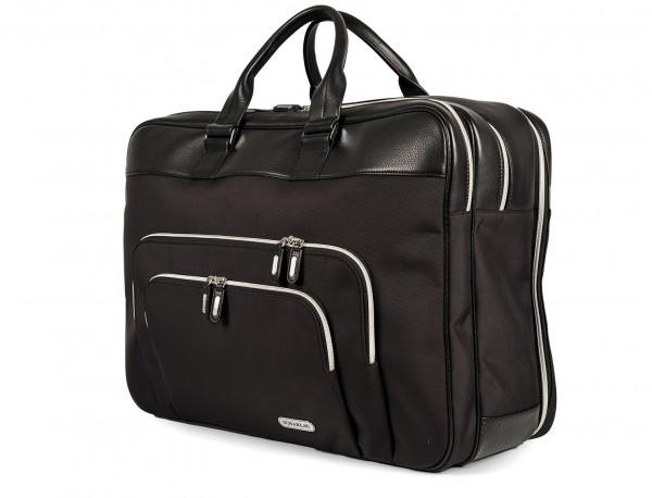 Large travelling bag in ballistic nylon cabin size side