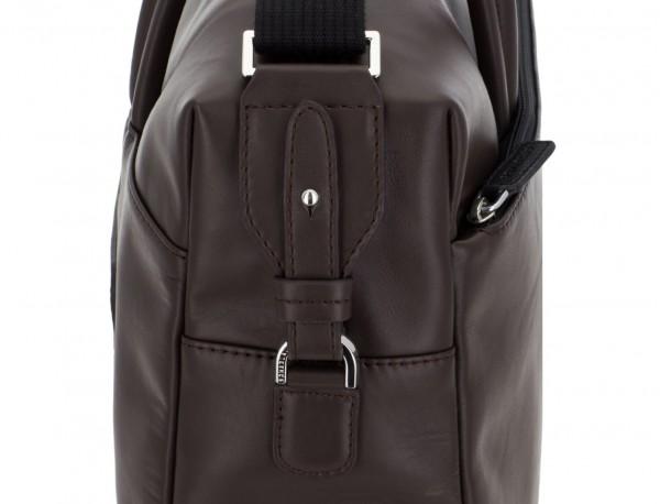 large leather briefbag in brown detail