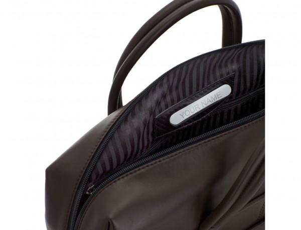 maletín grande de piel marrón personalizado