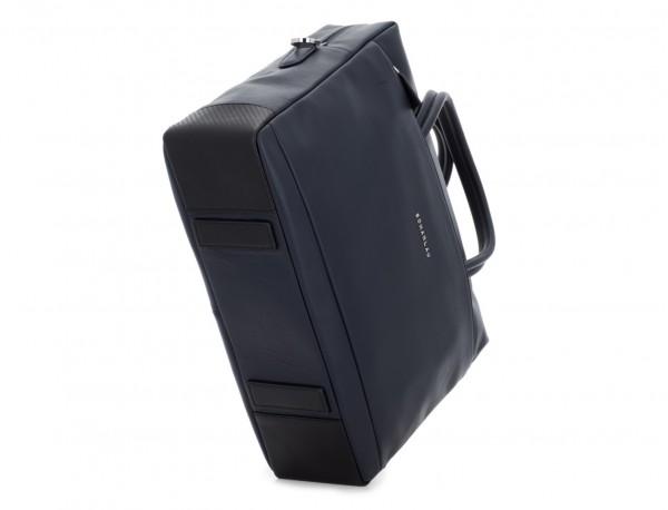 large leather briefbag in blue base