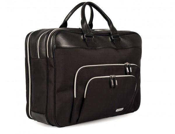 Large travelling bag in ballistic nylon cabin size side detail