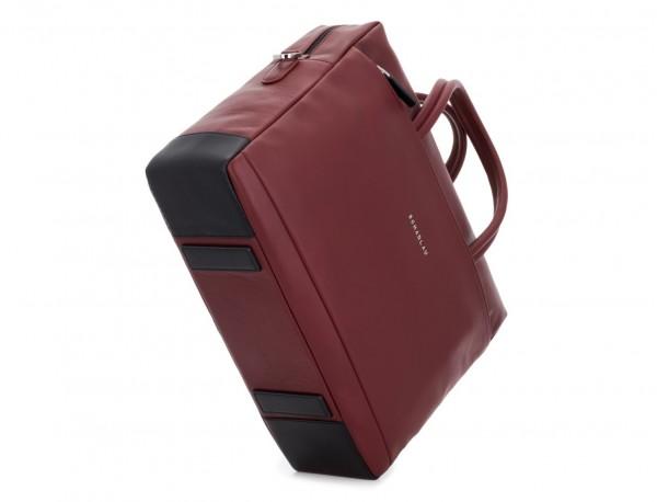 maletín grande de piel burdeos base