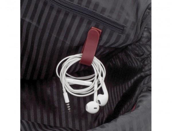maletín grande de piel burdeos cables