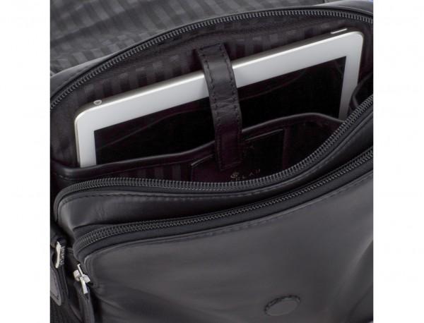 Borsa a tracolla con patta nera tablet