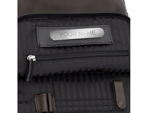 bolso bandolera de con solapa marrón personalizada
