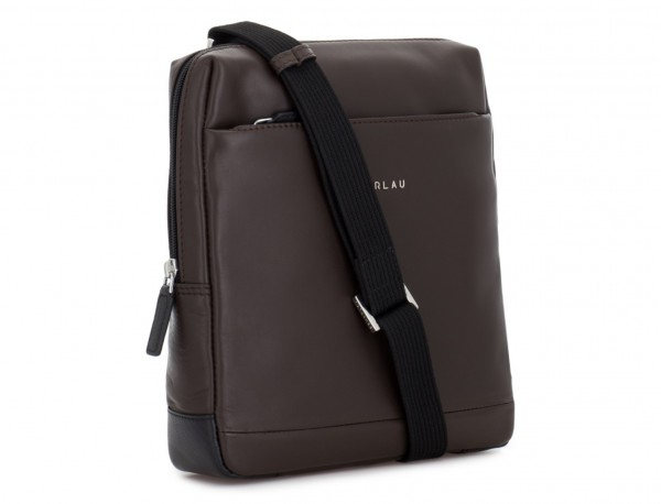 leather cross body bag brown side