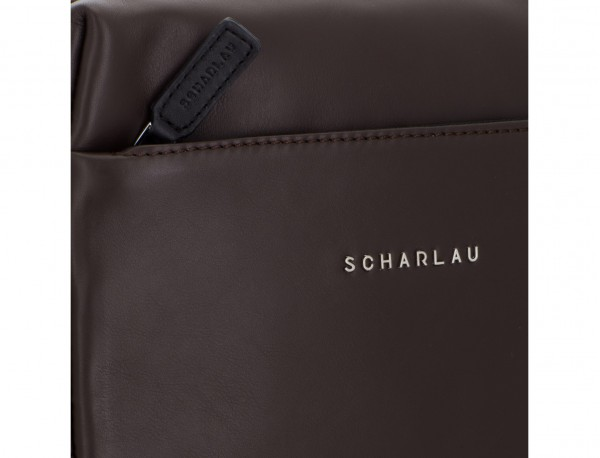 leather cross body bag brown logo