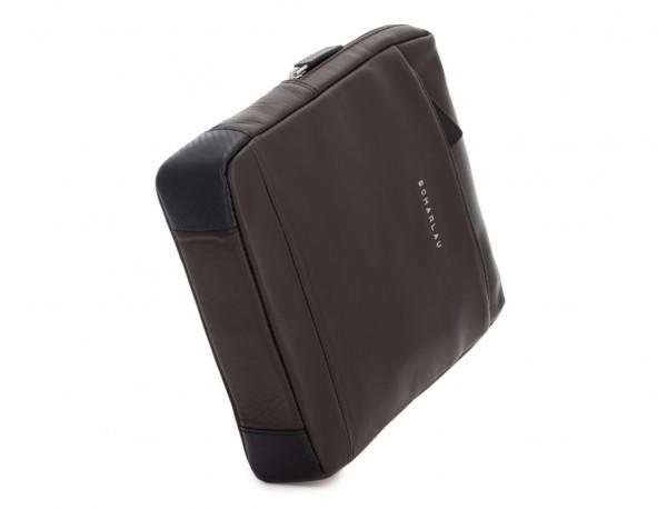 bolso bandolera de piel marrón base