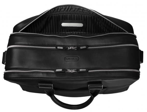 Large travelling bag in ballistic nylon cabin size metal plate