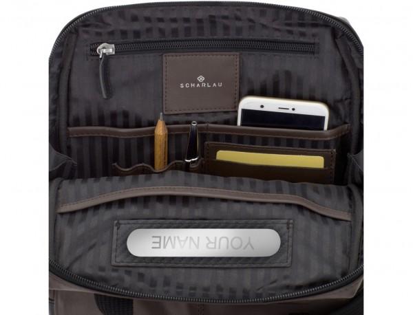 leather cross body bag brown interior