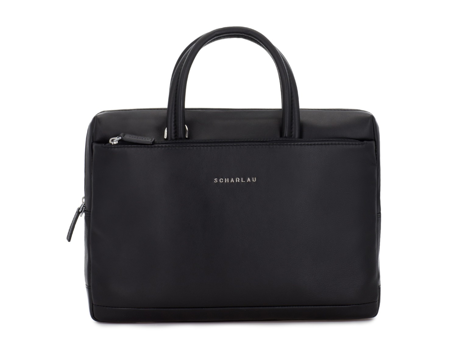 leather small business bag black