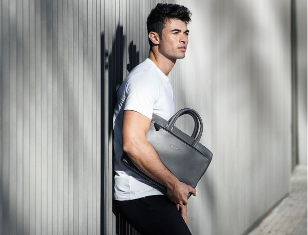 leather small business bag model