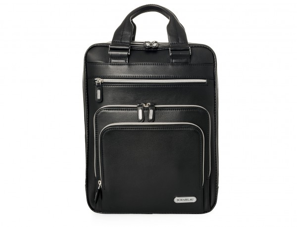 Leather executive backpack for men front
