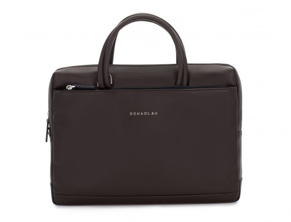 leather small business bag brown front