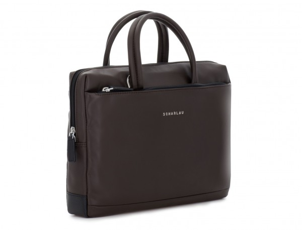 leather small business bag brown side
