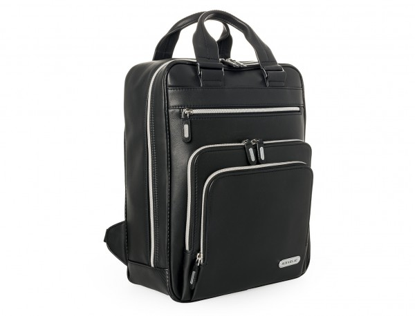 Leather executive backpack for men side