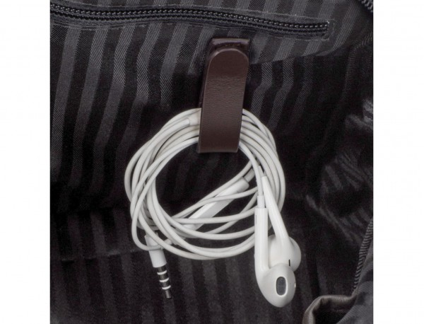 leather small business bag brown cables