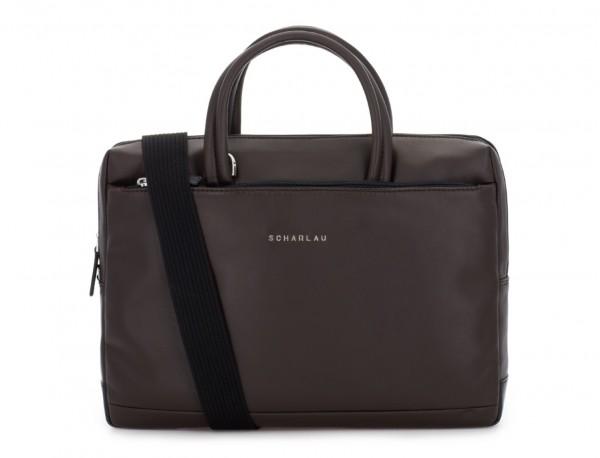 leather small business bag brown bandolera