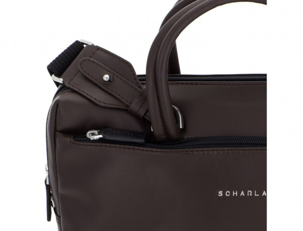 leather small business bag brown detail