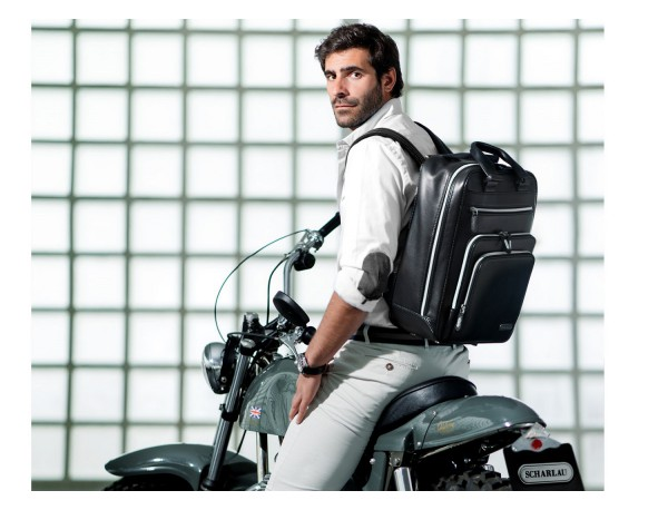 Leather executive backpack for men lifestyle