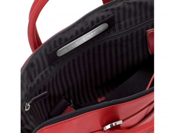 leather small business bag red personalized