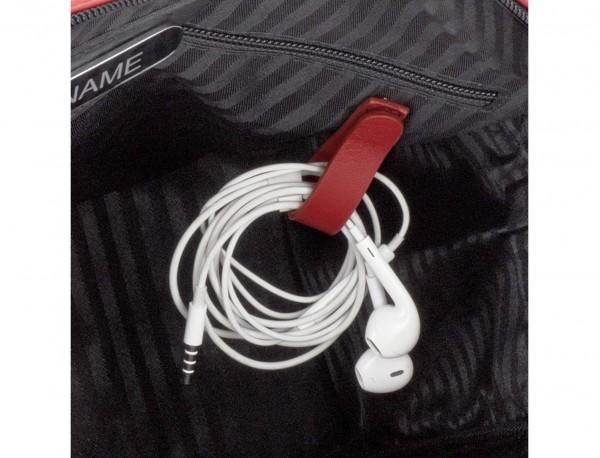 Cartella piccola in pelle rosso cables