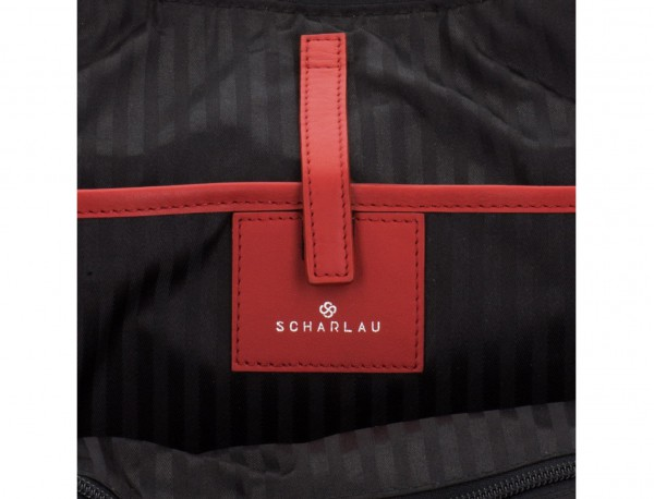 leather small business bag red laptop