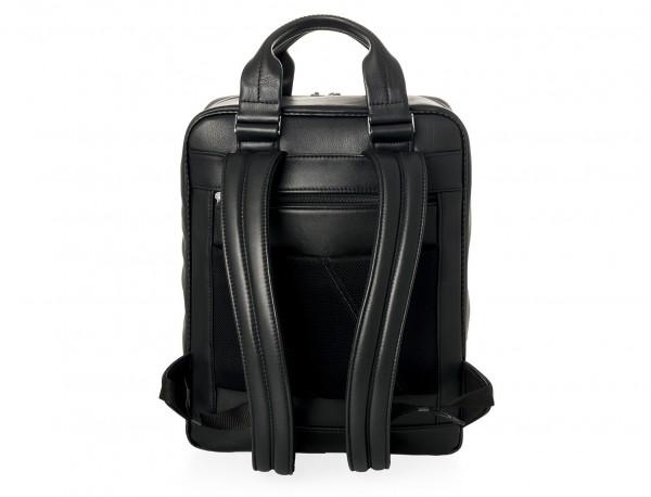 Leather executive backpack for men back