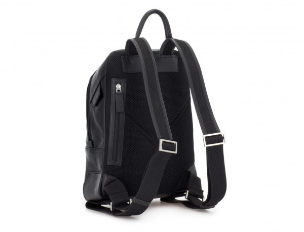 small leather backpack black back