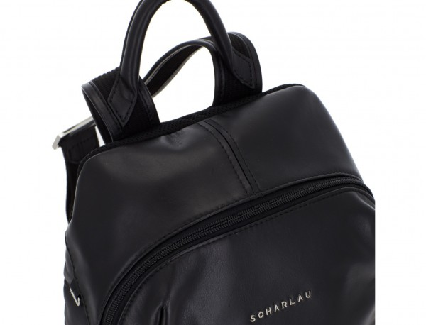small leather backpack black handle