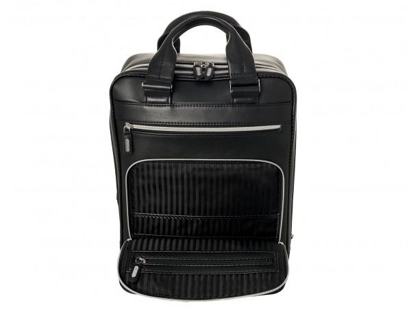 Leather executive backpack for men pocket