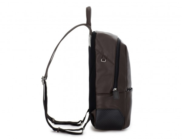 small leather backpack brown side