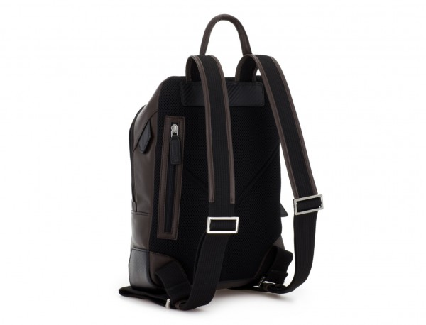 small leather backpack brown back