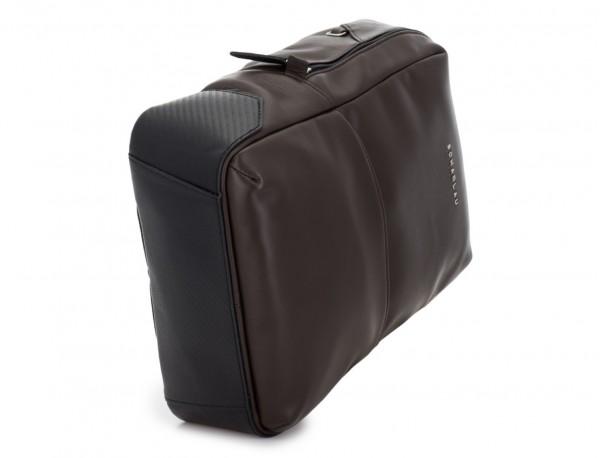 mochila pequeña de piel marrón base