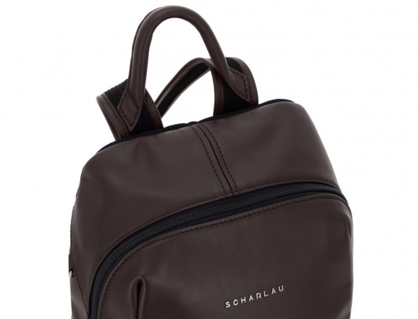 small leather backpack brown handle