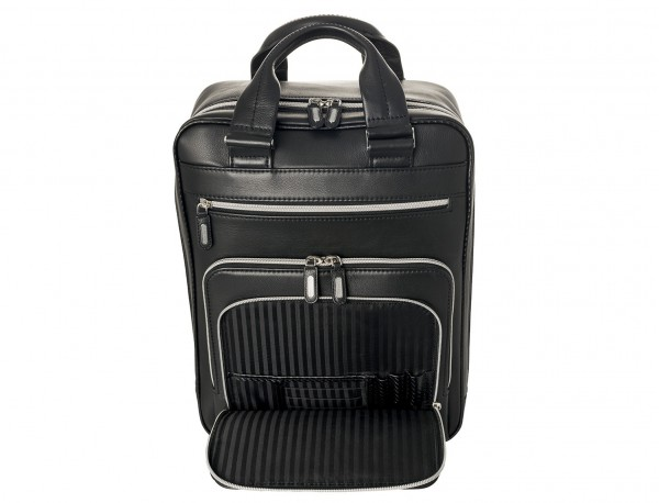 Leather executive backpack for men detail