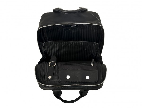 Leather executive backpack for men inside
