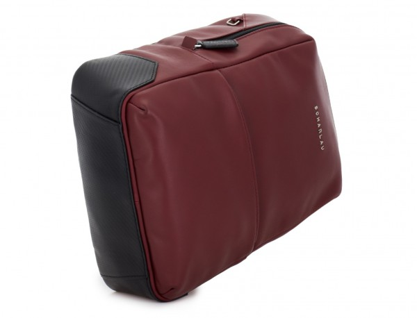 small leather backpack burgundy base