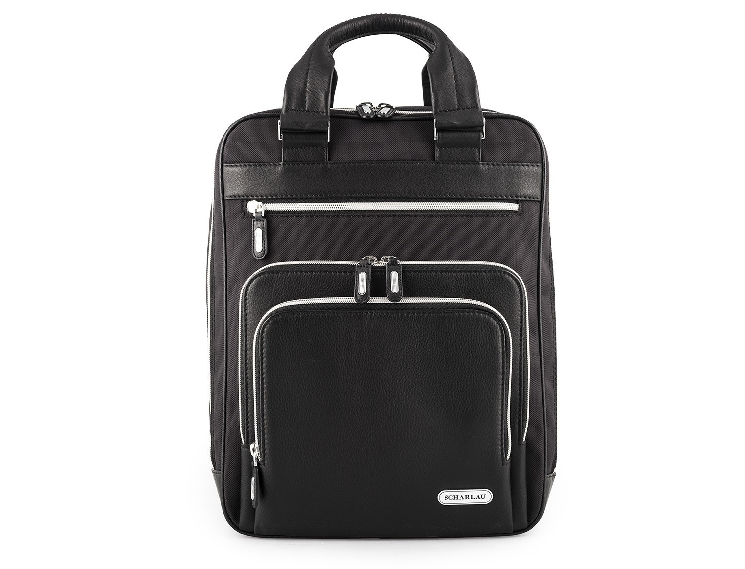 Executive backpack in ballistic nylon front