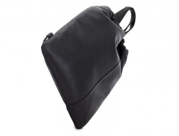 leather flat backpack in black base