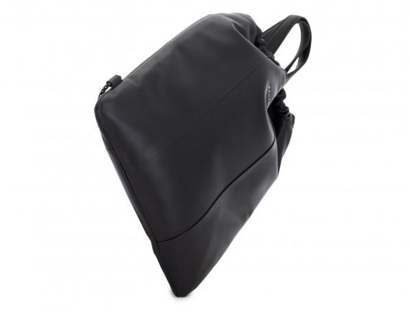 mochila plana de piel negra base