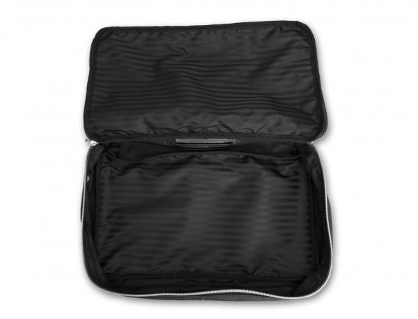 bolsa organizadora de nylon negra abierto