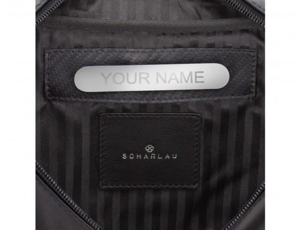 riñonera de cuero negra personalizada