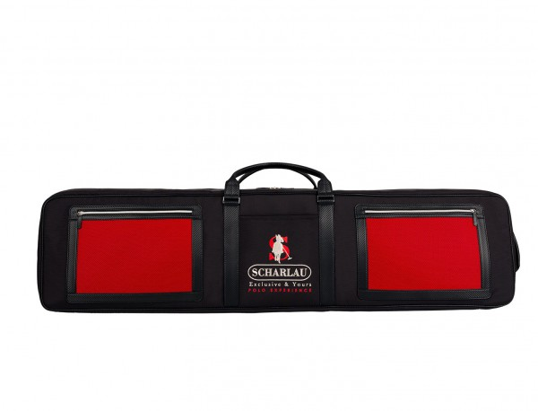 Polo mallets bag in ballistic nylon front