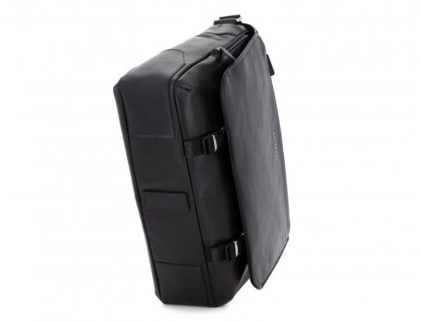 bolso mensajero de cuero negro base