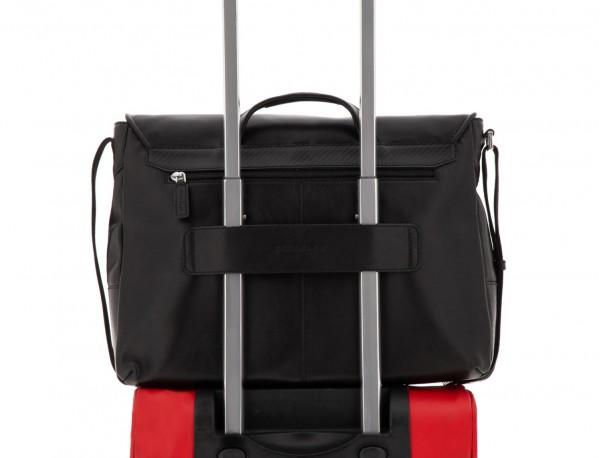 leather messenger bag black trolley