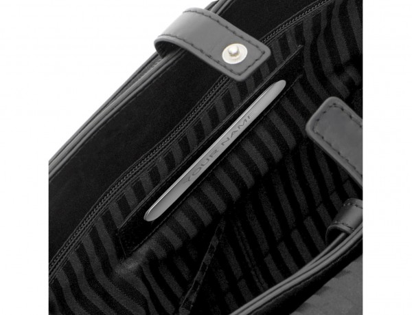 Cartella messenger in pelle nero  personalized