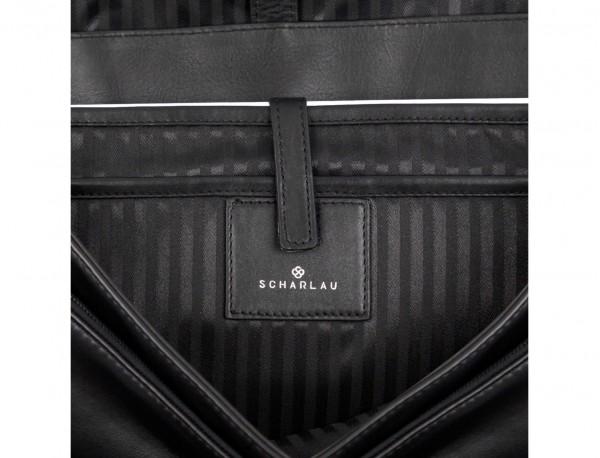 leather messenger bag black laptop