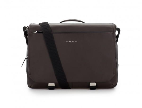 leather messenger bag brown front