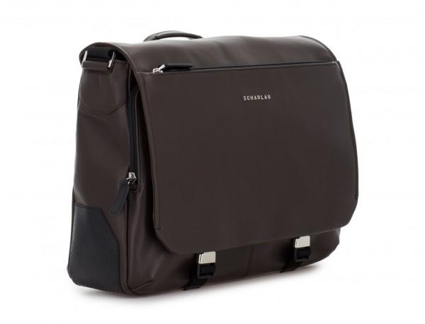 leather messenger bag brown side